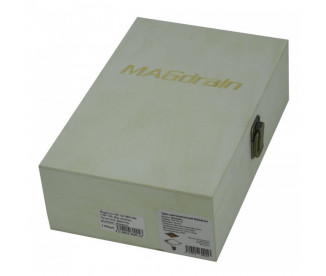 Трап для душа (сливной) MAGdrain WC02Q50-NW (100x100x12 мм, никель матовый + фьюзинг стекло, латунь)